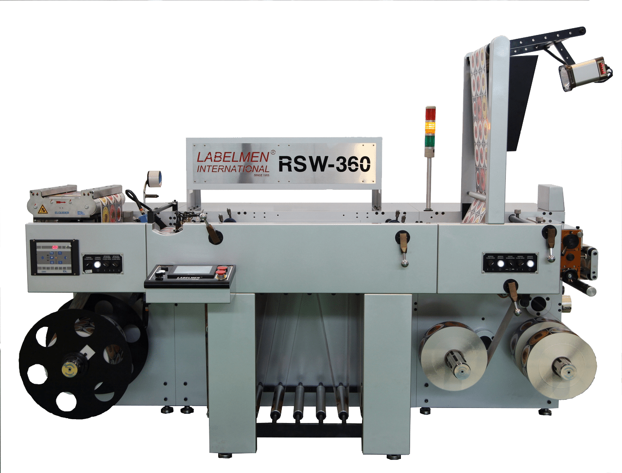 INSPECTION SLITTER-GERMAN MADE E+L EPC WEB GUIDER MACHINE TENSION CONTROL-RSW-360