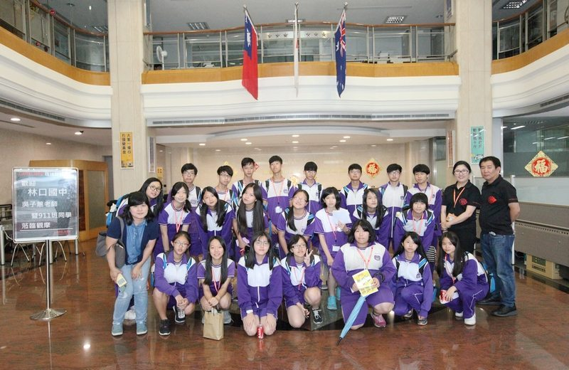 New Taipei Municipal Linkou Junior High School Students visited Labelmen for learning label printing machine