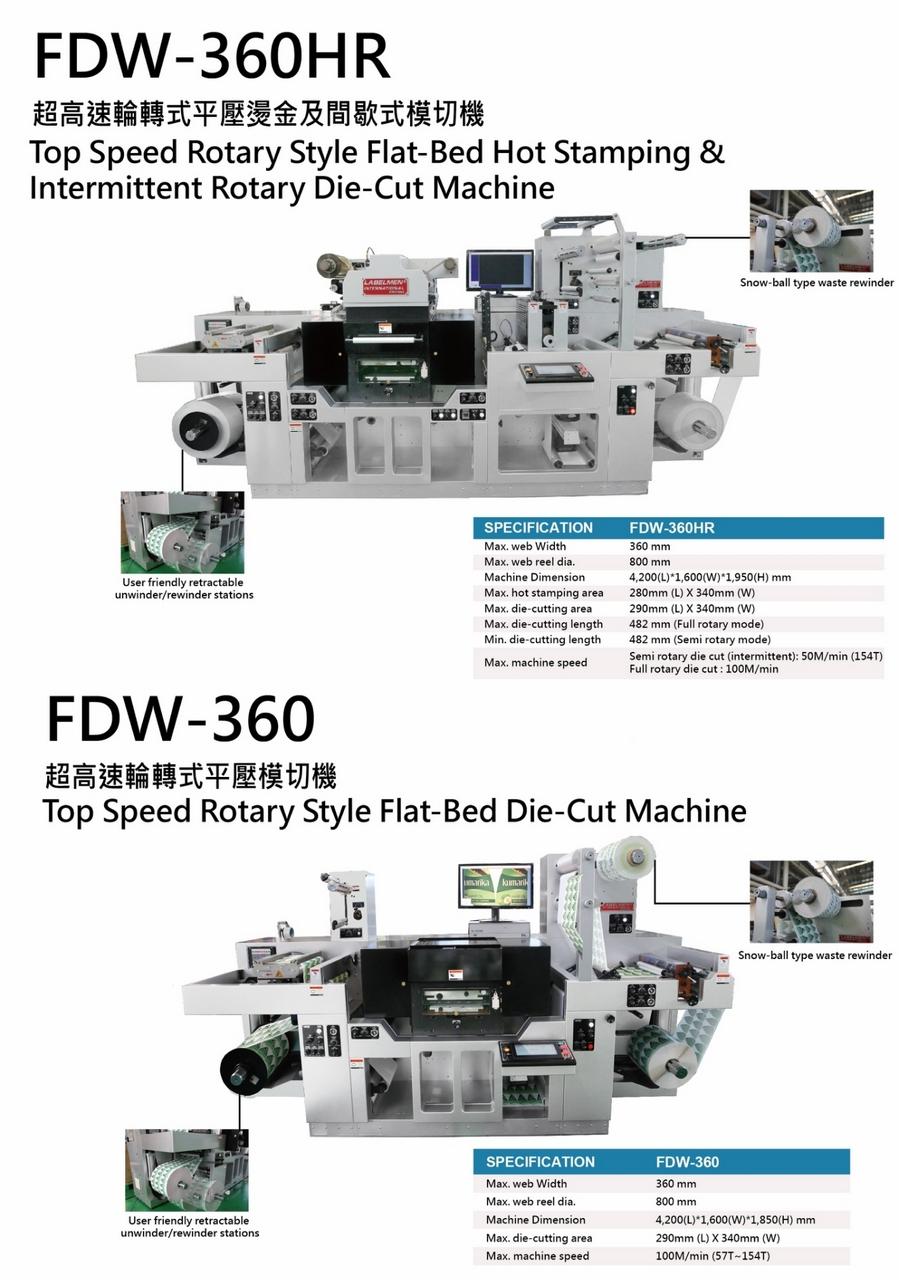 Labelmen has released two new die-cutting machine