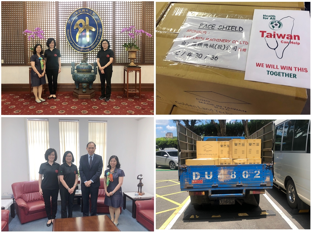 LABELMEN donated 7,200 sets of protective masks to many countries